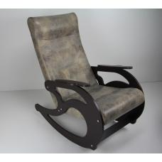Кресло-качалка -  Замша темная