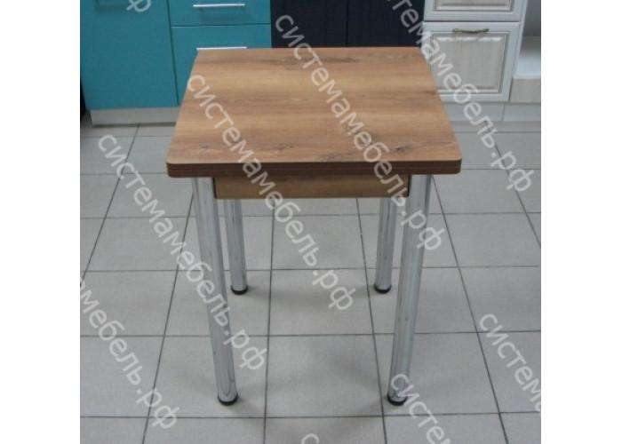 Стол Ломберный (поворотно-раскладной) без ящика, ножки хром - Орех