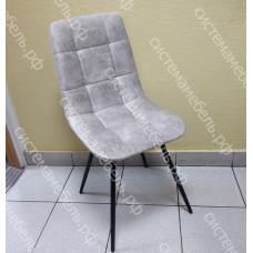 Стул Фрэд металлокаркас черный - Велюр серый