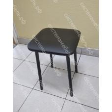 Табурет металлик черный - Кожзам черный