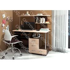 Стол компьютерный КС 30 - Венге/Дуб молочный